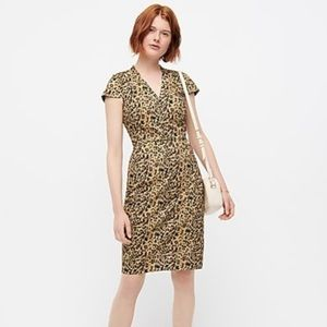NWT J.Crew V--neck sheath dress in leopard print